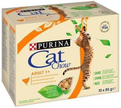 Purina Cat Chow Kurczak i cukinia saszetki 10x85g