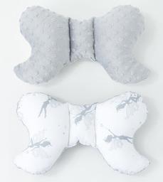MAMO-TATO Poduszka antywstrząsowa motylek Wróżki szare / jasny szary