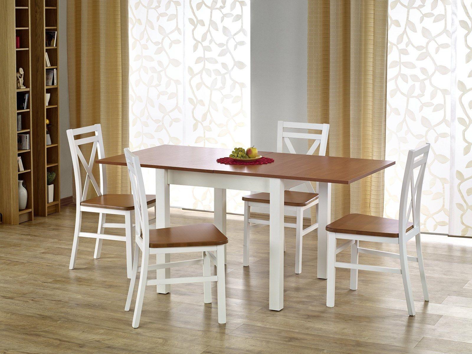 Zestaw: stół Gracjan (80-160x80x76 cm) i 4 krzesła Dariusz Halmar