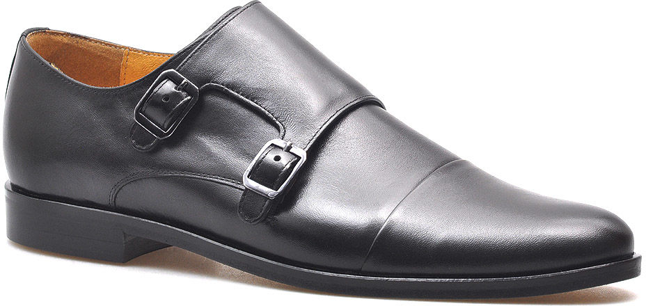 Monki Pantofle Pan 1040/2 Czarne lico