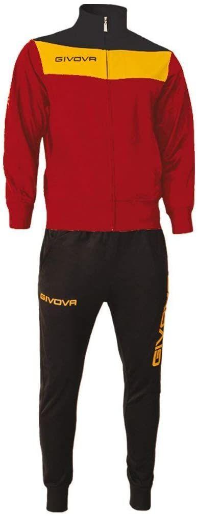 Givova, garnitur campo, czerwony/granat, 4XS