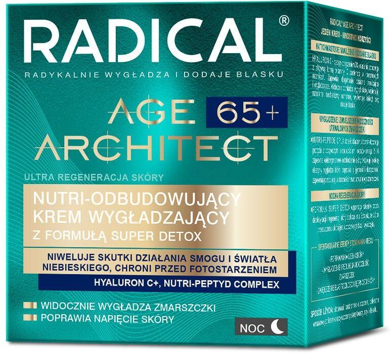 RADICAL AGE ARCHITECT 65+ NUTRI-ODBUDOWUJĄCY KREM WYGŁADZAJĄCY Z FORMUŁĄ SUPER DETOX, NA NOC, 50ml