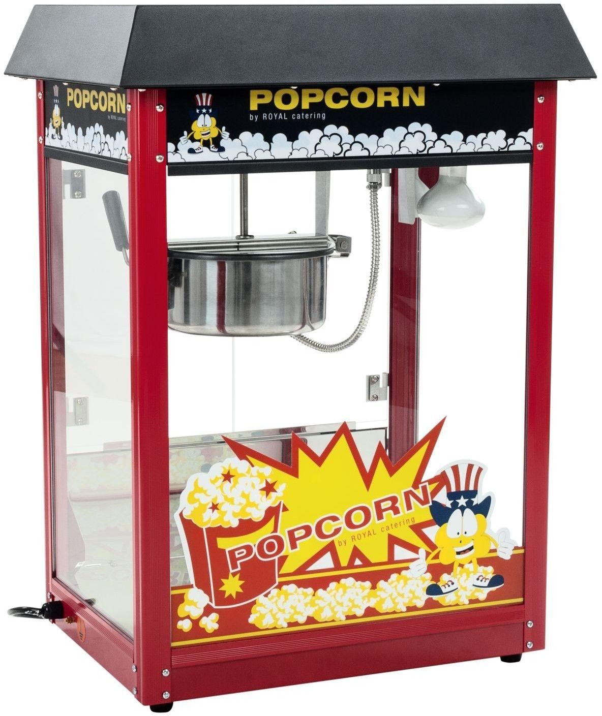 Maszyna do popcornu - czarny daszek - 1600 W - Royal Catering - RCPS-16E - 3 lata gwarancji/wysyłka w 24h