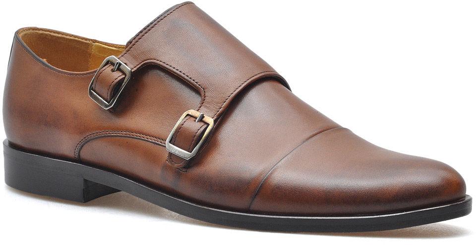Monki Pantofle Pan 1040/2 Brązowe lico