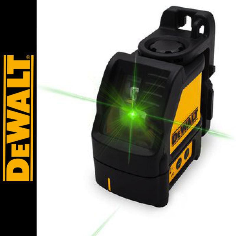 Laser liniowy krzyżowy, zielony DW088CG DEWALT