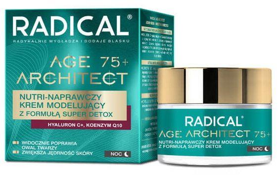 RADICAL AGE ARCHITECT 75+ Nutri-naprawczy krem modelujący z formułą super detox, na noc, 50ml
