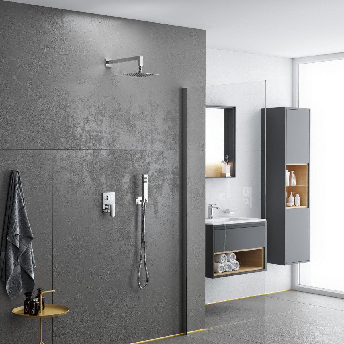 Excellent Pride zestaw prysznicowo-wannowy podtynkowy chrom AREX.SET.4045CR