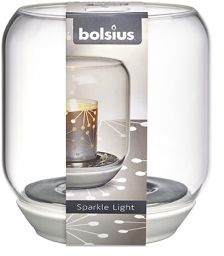 Świecznik szklany do świec Sparkle Light 130/121 MIRROR BOLSIUS