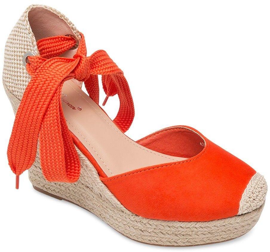 Sandałki damskie Belle Women 4398 Pomarańczowe