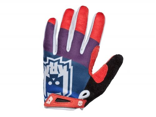 KRKpro rękawiczki Pamper Blue/Red BMX MTB
