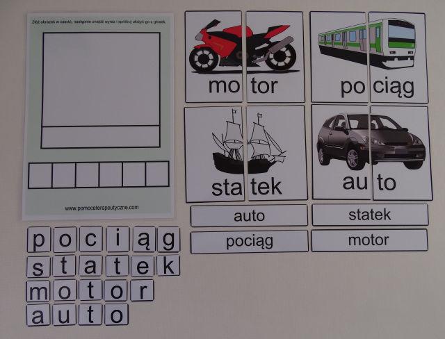 Uczę się czytać - dobieram obrazek, wyraz i głoski