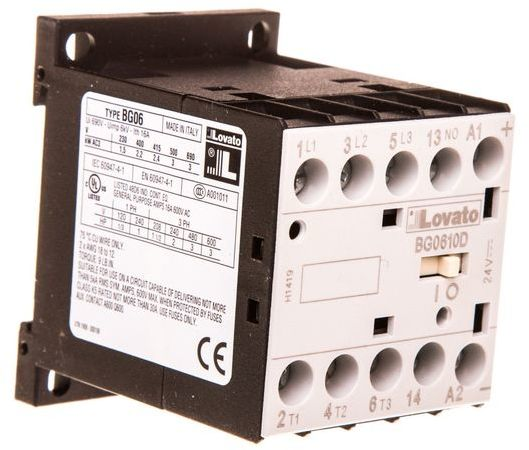 Stycznik mocy 6A 3P 24V DC 0Z 1R 11BG0610D024