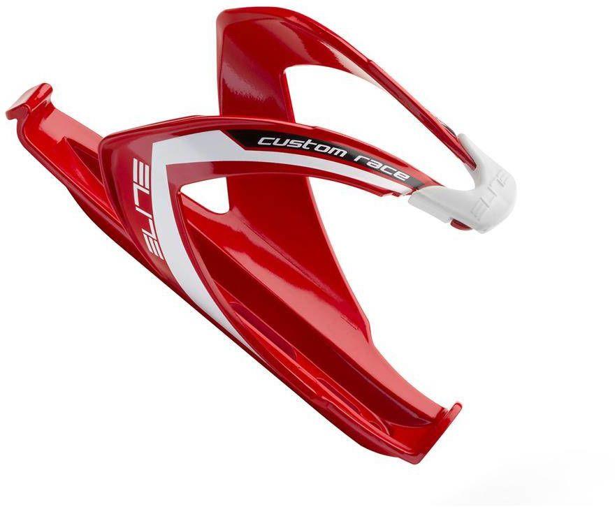 Koszyk na bidon Elite Custom Race czerwony z białym logo