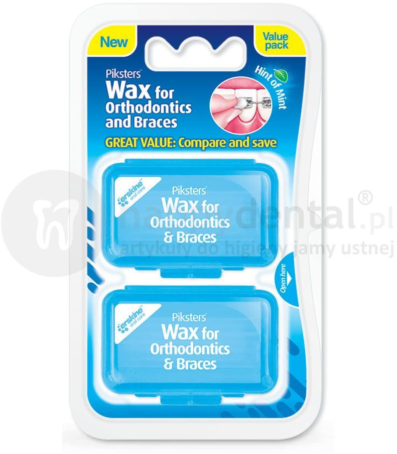 PIKSTERS Orthodontic WAX wosk ortodontyczny 2 opakowania (E1701)