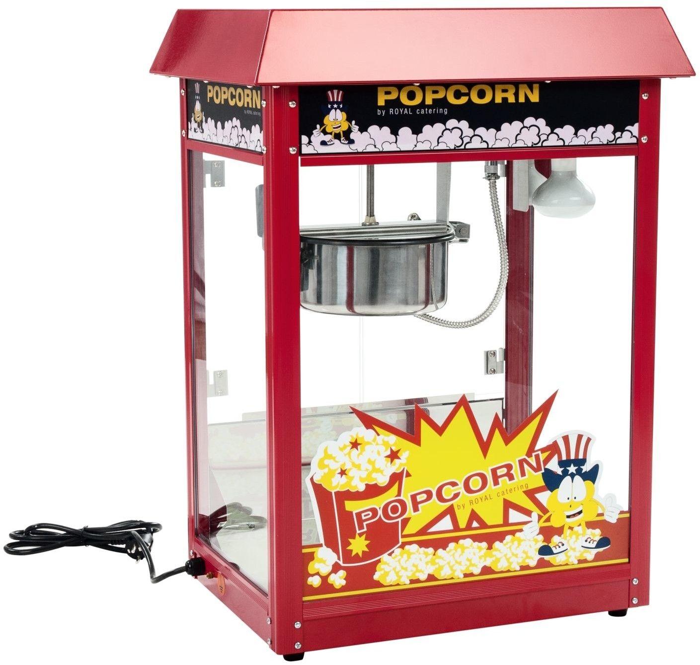 Maszyna do popcornu - czerwony daszek - 1600 W - Royal Catering - RCPR-16E - 3 lata gwarancji/wysyłka w 24h