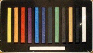 Zestaw Pasteli Suchych Derwent 12 Kolorów