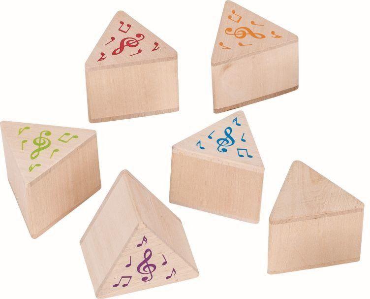 Memo drewniane, Rozpoznaj dźwięk, 56683-goki, zabawki edukacyjne