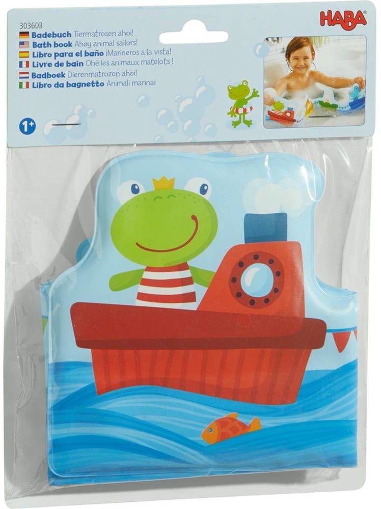 Pływająca książeczka do kąpieli Żabka HB303603-Haba, zabawki edukacyjne dla dzieci