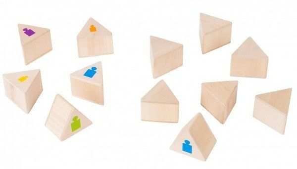Memo drewniane, Rozpoznaj wagę, 56684-goki, zabawki edukacyjne