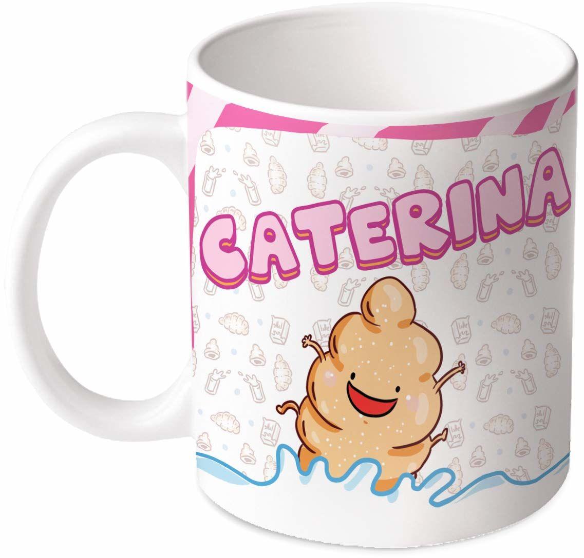 M.M. Group Filiżanka z imieniem i znaczeniem Caterina, 35 ml, ceramika, wielokolorowa