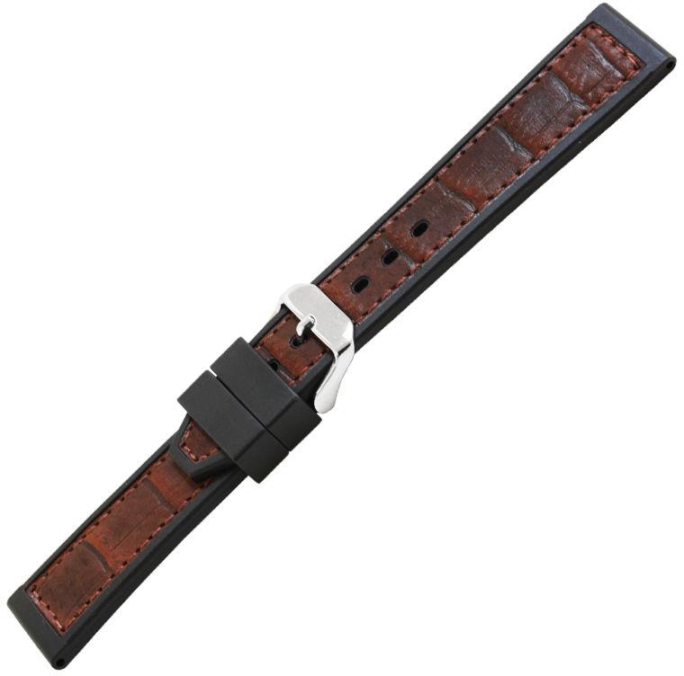 Pasek Bonetto Cinturini 327 do zegarków - kauczukowy 22 mm (BC-327_22-W) T