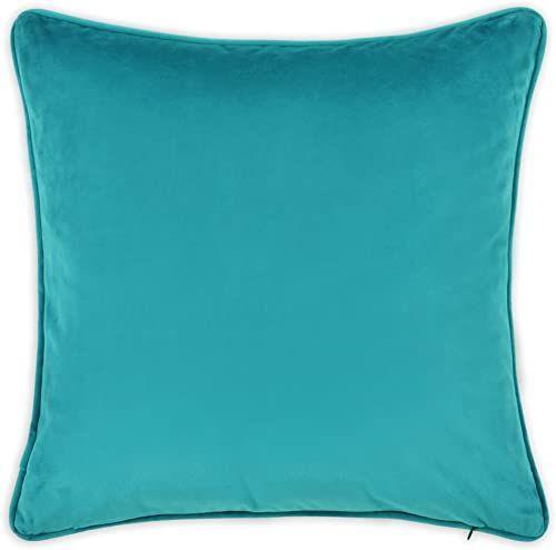 Deco Mex PL07475HM62 aksamitna poduszka dekoracyjna, poliester, turkusowy, normalny rozmiar
