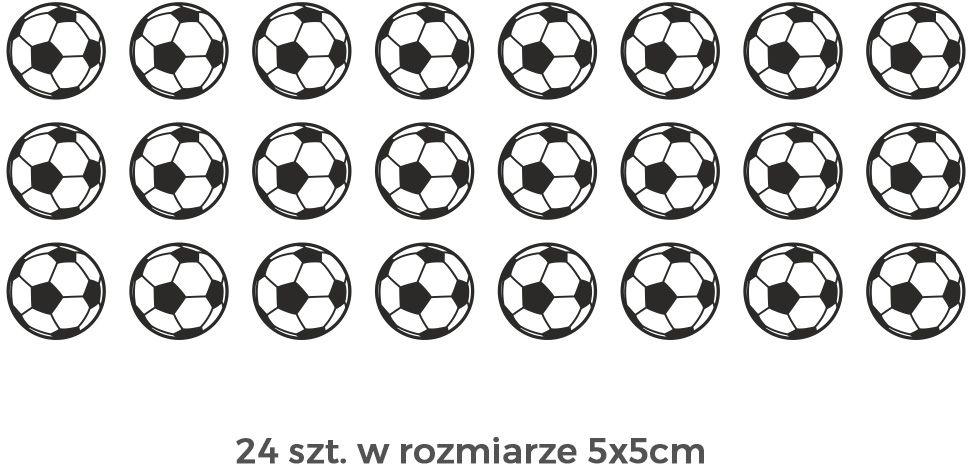Piłka zestaw naklejek naklejka na ścianę zestaw piłek