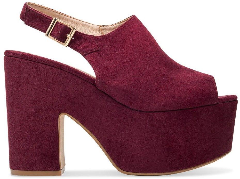 Sandałki damskie Tina''s 8263G Bordowe