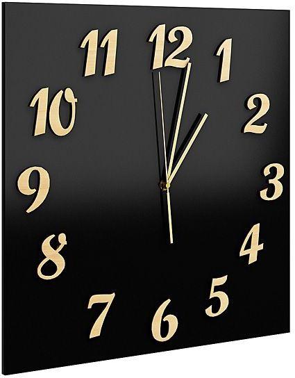 Zegar ścienny Presto - Czarny
