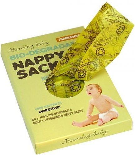 Biodegradowalne Worki na Zużyte Pieluszki Zapachowe 60szt. Beaming Baby