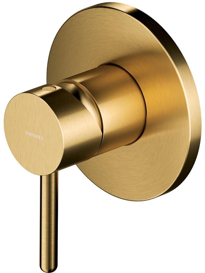 Omnires Y bateria podtynkowa prysznicowa złoty szczotkowany Y1245GLB