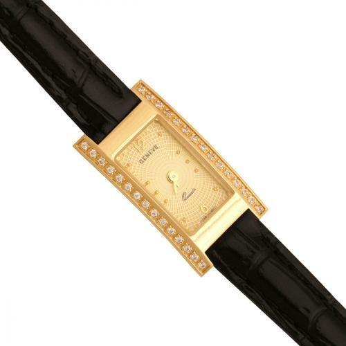 Złoty zegarek damski Na pasku Zv136-cz