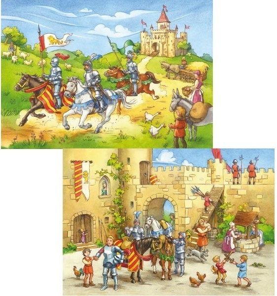 Ravensburger - Puzzle Wyprawa rycerska 2 x 20 elem. 090181