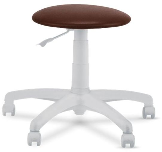 Krzesło specjalistyczne, taboret na kółkach Goliat White TS02 Nowy Styl