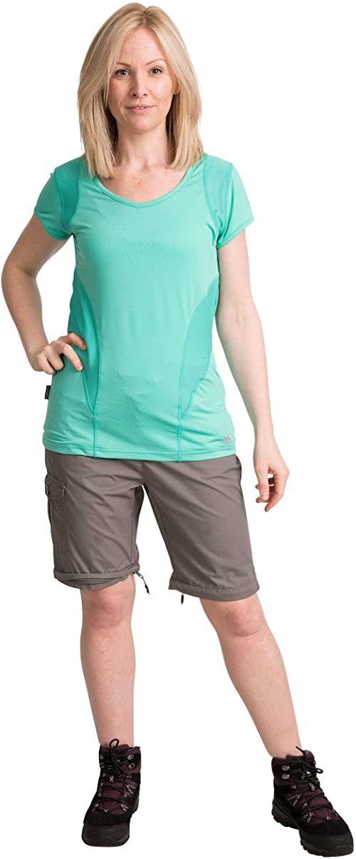 Trespass damskie Rambler cabrio wodoodporne spodnie z ochroną UV i odpinanymi nogawkami Burzowy Szary XXS