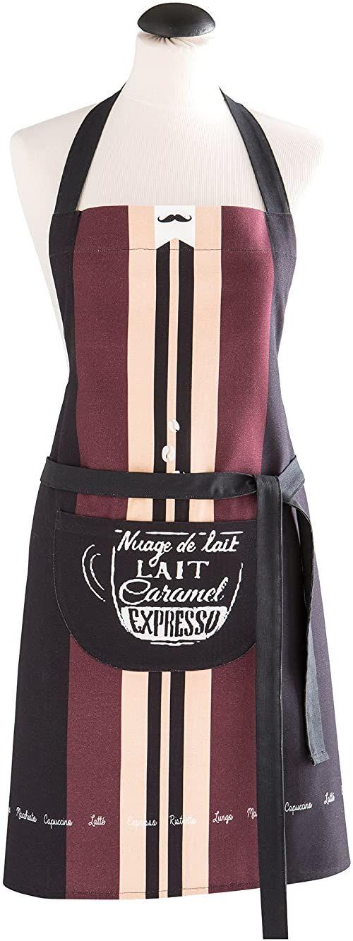 Coucke Fartuch Espresso bawełna czarny 70 x 82 x 0,3 cm