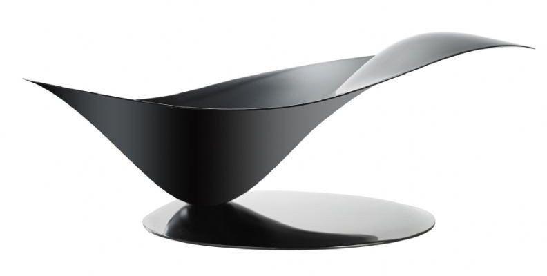 Casa bugatti - misa na owoce stalowa na stalowej podstawie - czarna