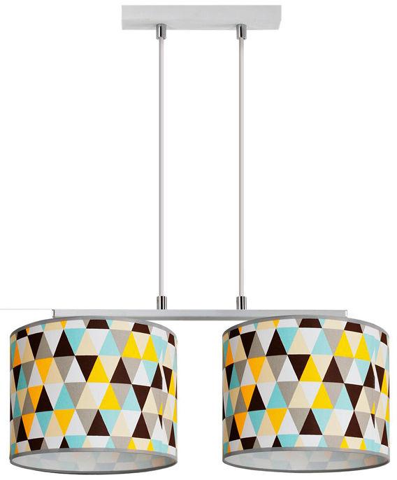 Kolorowa podwójna lampa wisząca - EX779-Hestix