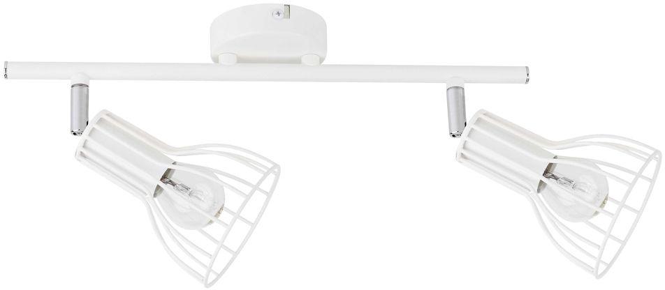 Spot Light 2743202 Megan oprawa stropowa spot metal biały klosz koszyk 2xE14 40W IP20 37,5cm