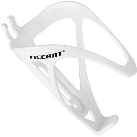 Koszyk na bidon Accent Ram tworzywo biały połysk