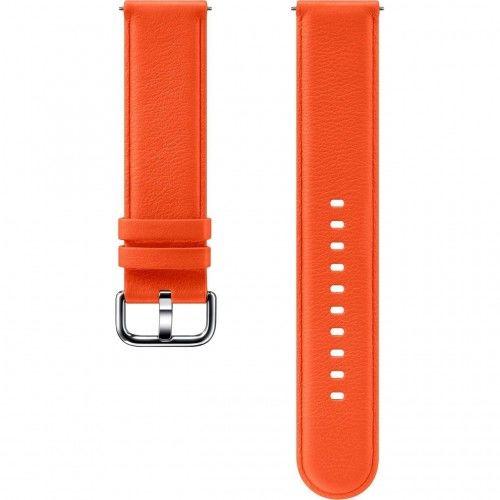 Samsung Pasek Skórzany do Galaxy Watch Active/Active 2 20mm Pomarańczowy (ET-SLR82MOEGWW)