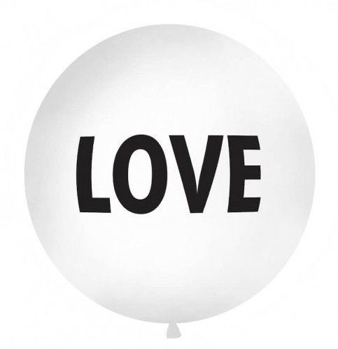 Balon Kula z czarnym napisem Love, 1 m