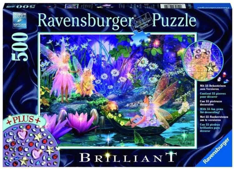 Puzzle 500 Diamentowe - W bajkowym lesie - Ravensburger