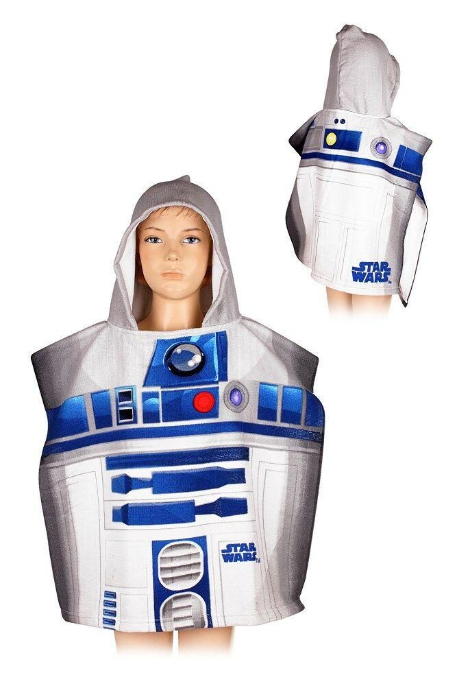 Poncho dla dzieci 55x110 Star Wars 3966 Gwiezdne Wojny ręcznik szybkoschnący z kapturem