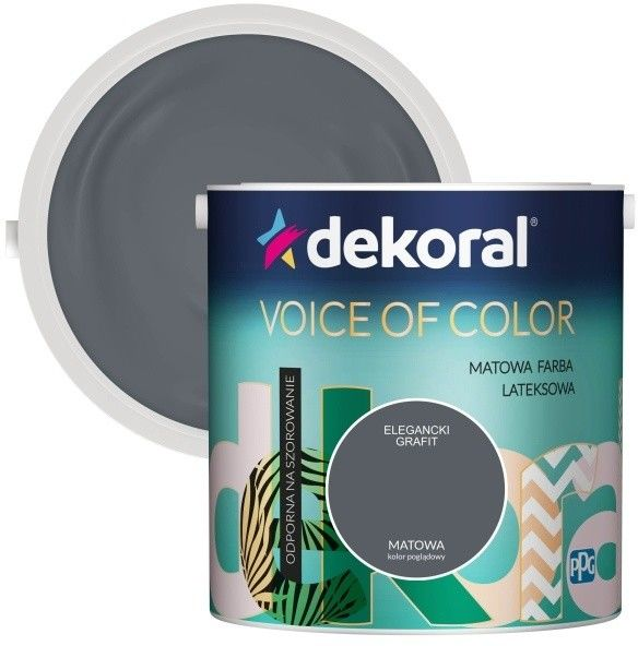 Farba Dekoral Voice of Color elegancki grafit 2,5 l