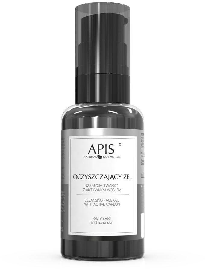 Oczyszczający żel do mycia twarzy z aktywnym węglem Apis Detox 50 ml