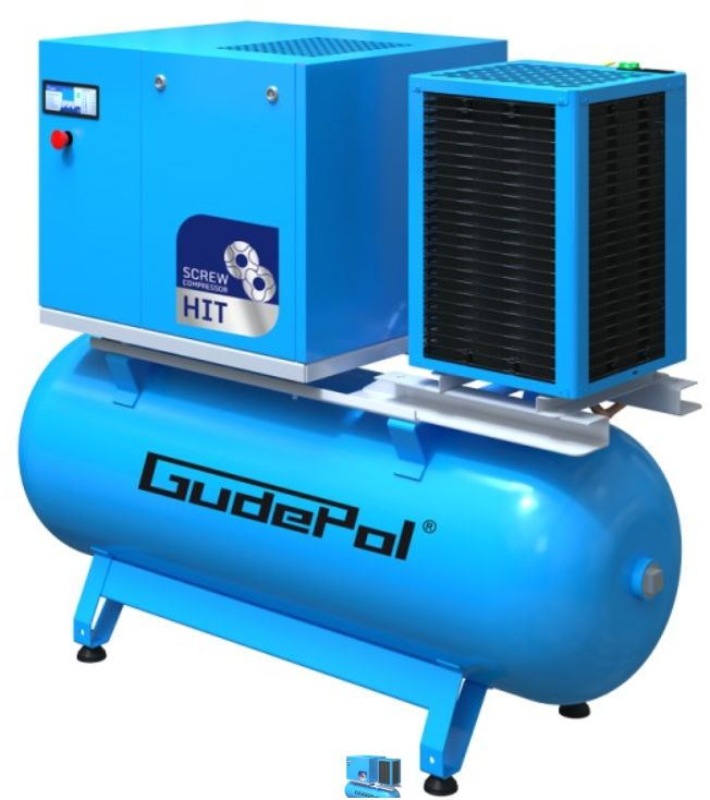 Kompresor śrubowy GudePol HIT-3G 7/10/500-VT 2021