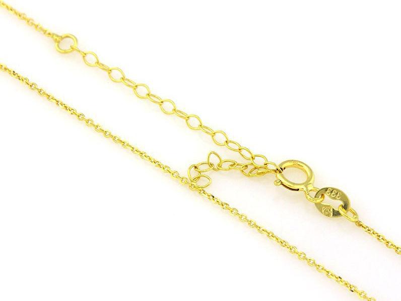 Złoty łańcuszek 333 splot ankier 45cm prezent
