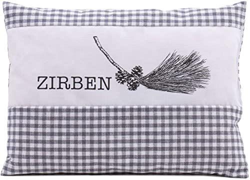 Poduszka zapachowa Gözze limba, szara w kratkę, 26 x 19 cm, 70034-2619