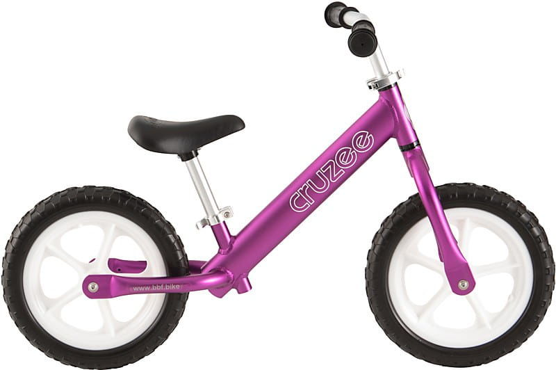 Rowerek biegowy Cruzee 12 fioletowy purple białe koła